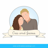 Custom Cartoon Couple Portrait - A very original anniversary gift