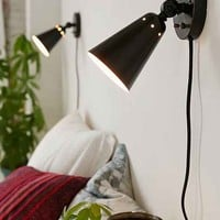 Simple Cone Sconce - Black One