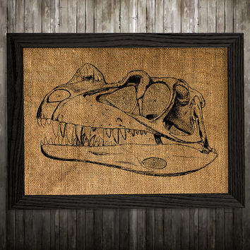 Dino skull poster Skull print Anatomy print Animal decor BLP400