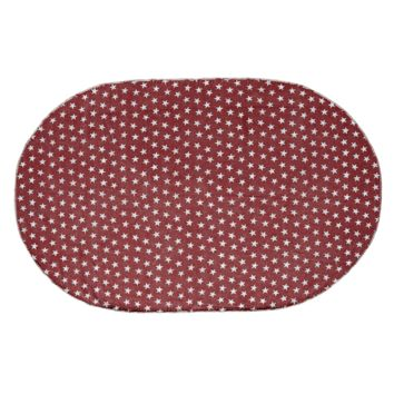Multi-Star Red - Cotton- Oval - 60 x 96 - Rug