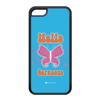 Sassy - Hello Gorgeous 10433 Black Silicon Rubber Case for iPhone 5C by Sassy Slang