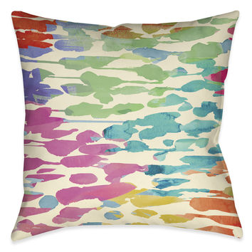 Splashes of Color Indoor Decorative Pillow