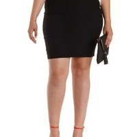 Plus Size Black Bodycon Pencil Skirt by Charlotte Russe