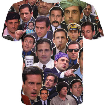 Many Faces of Michael Scott Paparazzi T-Shirt