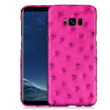 Genuine Ostrich Skin Leather Mobile Phone Case For Samsung Galaxy S8/S8 Plus