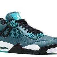 Ready Stock Nike Air Jordan 4 Retro 30th Teal White Black Basketball Sport Shoes