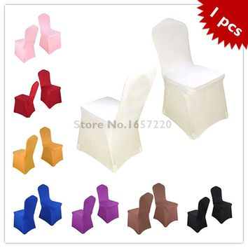 1 Pieces Universal Spandex Chair Covers China For Weddings Decoration Party Chair Covers Banquet Dining Chair Covers HGTXTBCR001