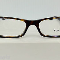 NEW AUTHENTIC MIU MIU VMU14G 2AU-101 TORTOISE PLASTIC EYEGLASSES FRAME BY PRADA