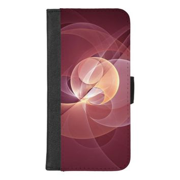 Movement Abstract Modern Wine Red Pink Fractal Art iPhone 8/7 Plus Wallet Case