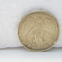 vintage Guardian Angel token, Guardian Angel coin, angel token