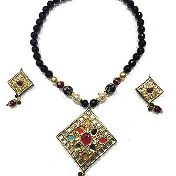Fashionable Necklace Jewelry Black TOURMALINE ARTISAN Pendant, Gift for Mother