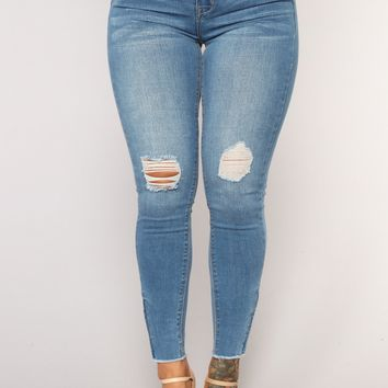 Bees Knees Ankle Jeans - Light