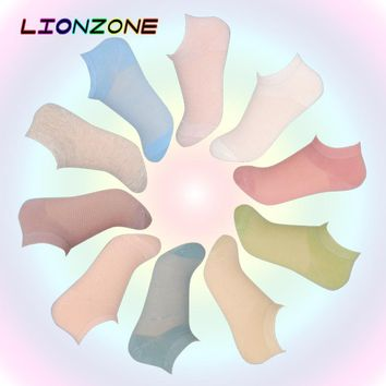 10 Pairs/Lot Summer Thin Ankle Socks 10 Colors Pack Korean Style Soft Boat Socks Female Solid Casual Art Hot Sox Chaussettes