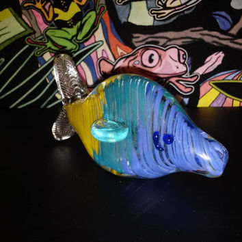 Fish Out of Water! Glass Pipe - Colorful smoking piece
