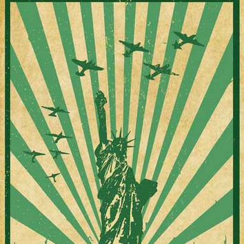 Legalize Marijuana Statue of Liberty Poster 11x17