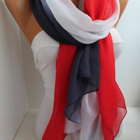 Patriotic  Soft Cotton Scarf oversize scarf long scarf shawl beach skirt tropical summer accessories