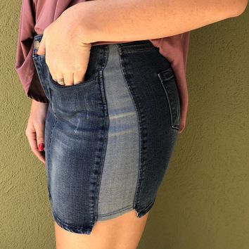 We Found Love Skirt- Denim
