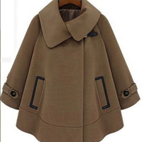 Winter Fashion Cape coat