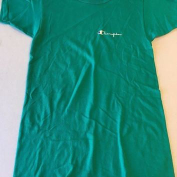 CREYONC. BRAND NEW RETRO CHAMPION GREENISH YOUTH SIZE TEE SHIRT SHIPPING