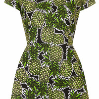 **Pineapple Print Playsuit by Rare