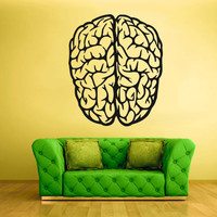 Wall Decal Vinyl Sticker Decals Brain Genius Smart Mind Human Words Quotes Custom (z1752)