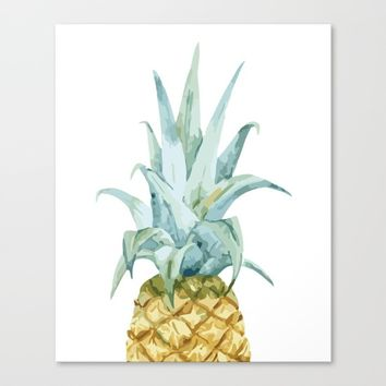Pineapple Topper Canvas Print by All Is One