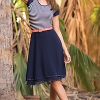 Stripe Mixture Dress