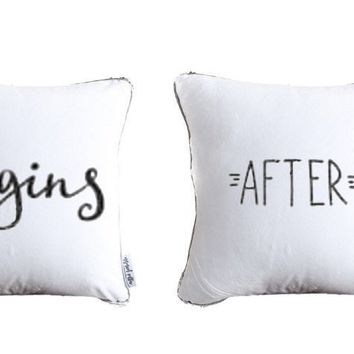 Life Begins After Coffee Throw Pillow Set of 4 | Includes Pillow Insert