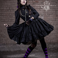 Steampunk Lolita Gothic Military Dress