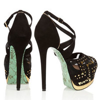**Stud Lightning Platform Sandals by CJG - Heels  - Shoes