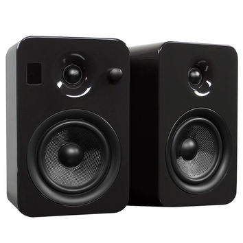 Kanto: Yumi Bookshelf Speakers - Gloss Grey (YUMIGRYGL)