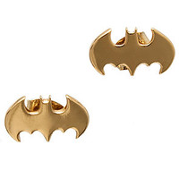 nOir x DC Comics Earrings Bat Wings in Gold