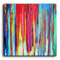 Canvas Wall Art by DiaNoche Designs, Neon Abstract