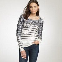 Merino confetti stripe sweater - AllProducts - sale - J.Crew