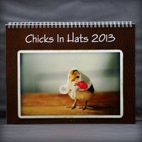 Chicks in Hats Wall Calendar Yearly 2013 12 Month