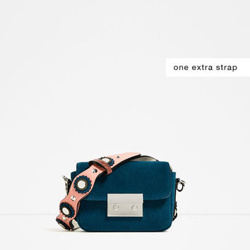 DOUBLE LOOK LEATHER MINI CROSSBODY BAGDETAILS