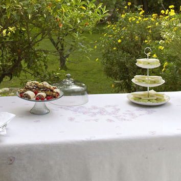 Blossom Tablecloths design by Huddleson Linens