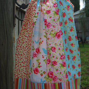 Girls Pillowcase Tie Back Dress Tunic Top Handmade Feat Timeless Treasures Tweet Fabric Collection Ready to Ship Size 2T 3T 4T 5T 6