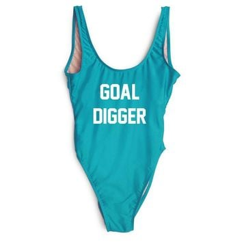 Goal Digger One Piece Bathing Suit