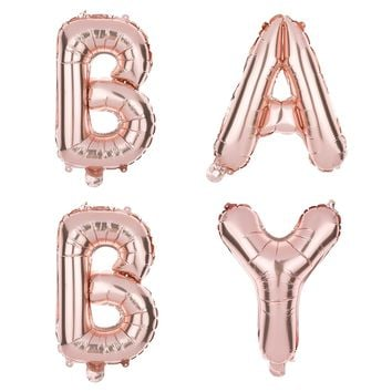 BABY Balloons - 40 inch Rose Gold