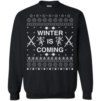 Gift for Game of Thrones Fans Ugly Christmas Sweater Winter is Coming
