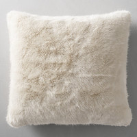Ultra Faux Fur Pillow Cover - Cream - Square