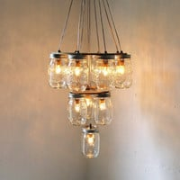 Mason Jar Chandelier Mason Jar Lighting Mason Jar by BootsNGus