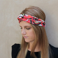 Knotted Headband, Twisted Headband, Mod, Coral, Brown, Orange, White, Green