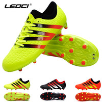 LEOCI Professional Outdoor Football Boots Athletic Training Soccer Shoes   FG Rubber Sole Shoes zapatos de futbol