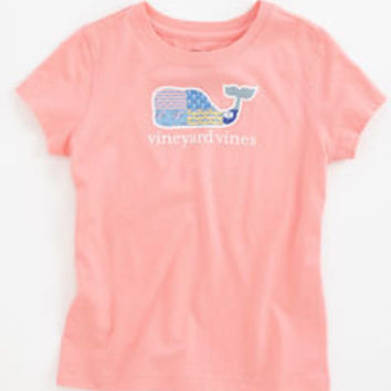 Girls T-shirts: Patchwork Whale Tee for Girls – Vineyard Vines