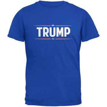 Election 2016 - Trump Thin Stripes Royal Adult T-Shirt