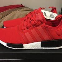 Adidas NMD R1 BB1970 Nomad Size 10 Clear Red/White/Core Black