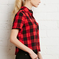 Boxy Gingham Plaid Shirt