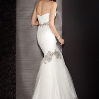 Jewel Embellished Mermaid Gown, Style 9661